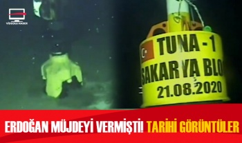 Müjdeyi Cumhurbaşkanı vermişti! Tuna-1 Kuyusu'ndan tarihi görüntüler