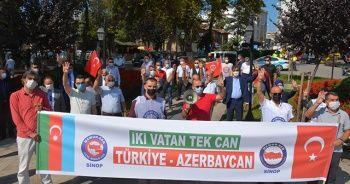 Sinop'tan Azerbaycan'a destek