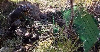 Traktör şarampole yuvarlandı: 1 ölü