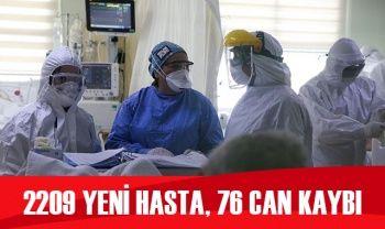 Türkiye'de koronavirüste son durum: 2209 yeni hasta, 76 can kaybı