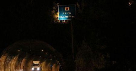 75. Yıl Selatin Tüneli ulaşıma açıldı