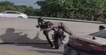 ABD'de polis, sürücüyü uçarak yakaladı