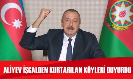 Azerbaycan Cumhurbaşkanı Aliyev açıkladı: Ordumuz Zengilan kentini kontrol altına aldı