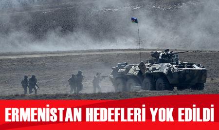 Azerbaycan, Ermenistan ordusuna ait askeri hedefleri yok etti