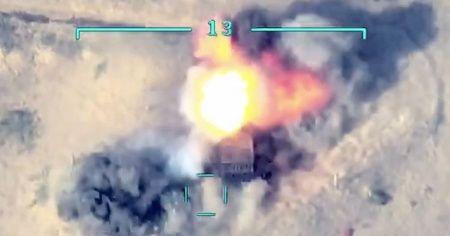 Azerbaycan Hava Kuvvetleri, Ermenistan güçlerinin tank ve sığınaklarını imha etti