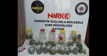 Bağ evinden uyuşturucu ticaretini polis engelledi