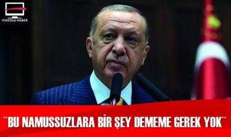 Cumhurbaşkanı Erdoğan: Bu namussuzlara bir şey dememe gerek yok