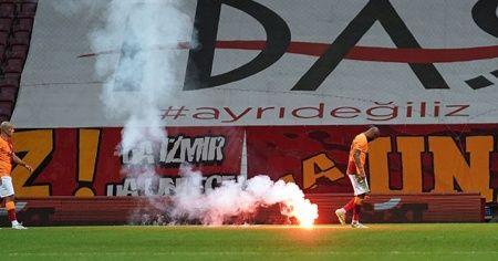 Galatasaray Fenerbahçe derbisinde havai fişek atanlar gözaltına alındı