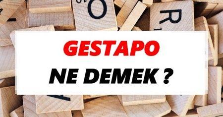 Gestapo Ne Demek? TDK'ya Göre Gestapo'nun Anlamı