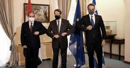 GKRY, Yunanistan ve Mısır liderleri görüştü