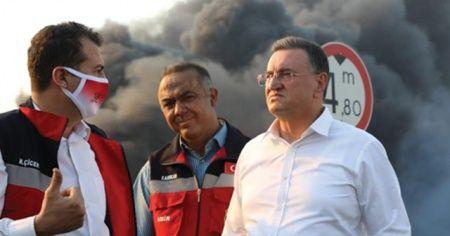 """Hatay Belediye Başkanı Savaş: """"Yangınla ilgili sabotajdan şüpheleniyoruz"""""""