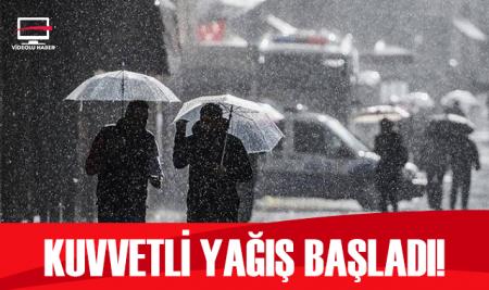 İstanbul'da gök gürültülü sağanak yağış etkili oluyor