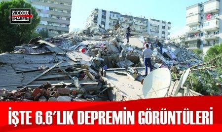 İşte 6.6'lık depremin görüntüleri