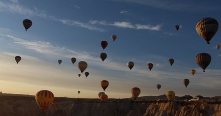Kapadokya'da balon turları yine iptal edildi