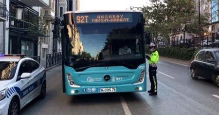 Karantina ihlali yapan otobüs şoförü hastaneye götürüldü