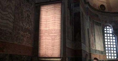 Kariye Cami'nde perdeleme sistemi hazır