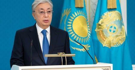Kazakistan Cumhurbaşkanı'ndan Cumhurbaşkanı Erdoğan'a başsağlığı mesajı