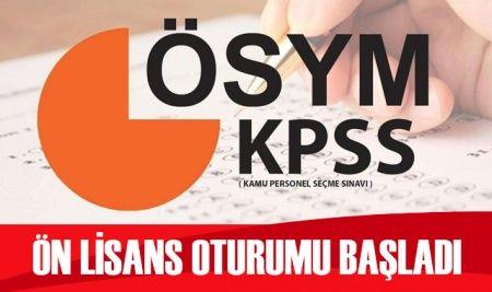 KPSS ön lisans oturumu başladı