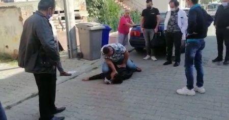 Marketten ürün çalan hırsızı vatandaşlar yakaladı