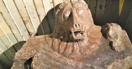 Roma dönemine ait aslan lahidini satamadan yakalandılar
