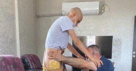 Sağ bacağını kaybetti umudunu kaybetmedi