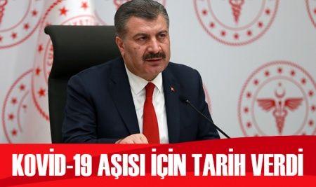 Sağlık Bakanı Koca'dan Kovid-19 aşısı açıklaması