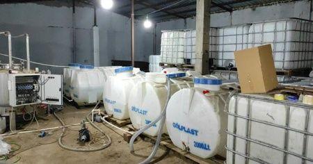 Sultangazi'de 4,5 ton etil alkol ele geçirildi