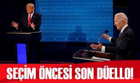 Trump ve Biden son kez karşı karşıya geldi