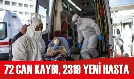 Türkiye'de koronavirüste son durum: 2319 yeni hasta, 72 can kaybı