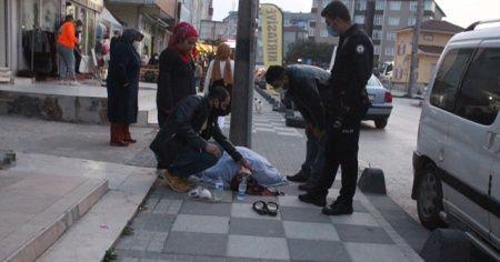 Yolda yürürken saldırıya uğradı