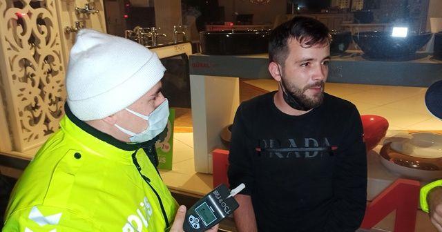 Alkollü sürücü kısıtlamada kontrolden kaçtı, kıskıvrak yakalandı
