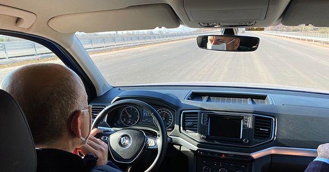 Bakan Karaismailoğlu, Kuzey Marmara Otoyolu'nu test etti