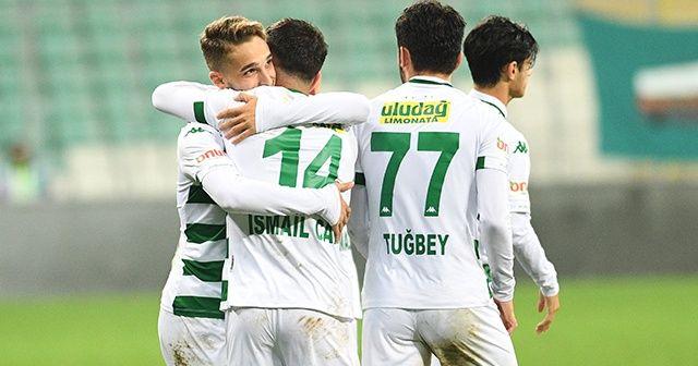 Bursaspor çıktığı 10 resmi maçta da gol attı