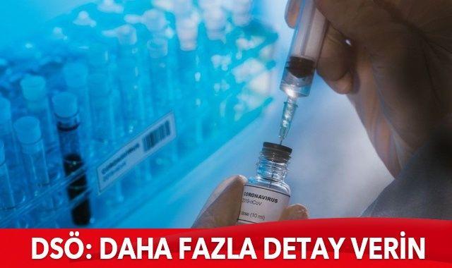 DSÖ'den AstraZeneca'ya: Aşıyla ilgili daha fazla detay verin