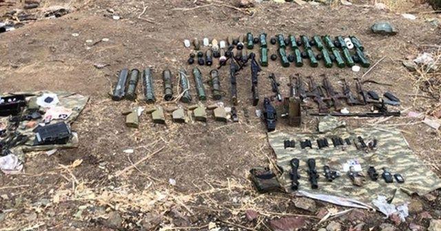 Irak'ın kuzeyinde terör örgütü PKK'ya ait çok sayıda mühimmat ele geçirildi
