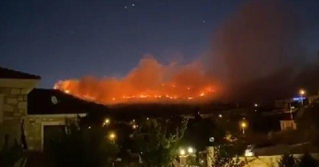 İzmir'in Foça ilçesinde orman yangını