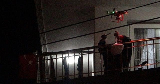 Kısıtlamada drone'la şırdan teslimatı