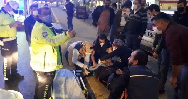 Köpeğe çarpan motosikletli ağır yaralandı