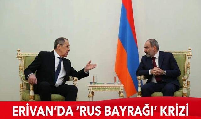 Rusya-Ermenistan görüşmesinde bayrak krizi
