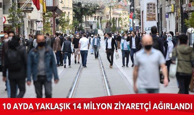Türkiye 10 ayda yaklaşık 14 milyon ziyaretçi ağırladı