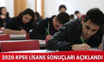 2020-KPSS Lisans sonuçları açıklandı