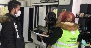 Ağrı'da karantina ihlaline 18 bin 900 lira para cezası