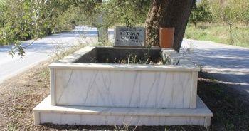 Ana yolda giderken bir anda karşılarına mezar çıkıyor