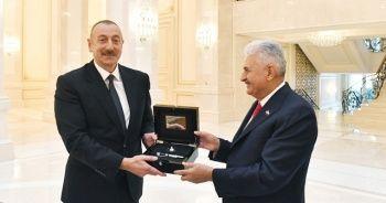 Azerbaycan Cumhurbaşkanı Aliyev, Binali Yıldırım'ı kabul etti