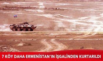 Azerbaycan ordusu, 7 köyü daha Ermenistan'ın işgalinden kurtardı