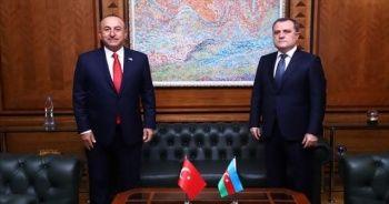 Bakan Çavuşoğlu, Azerbaycanlı mevkidaşıyla görüştü