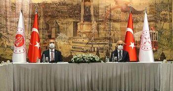 Bakan Elvan ve Gül, TOBB yönetimiyle bir araya geldi