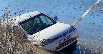 Baraja düşen araçla birlikte sürücünün cansız bedeni bulundu