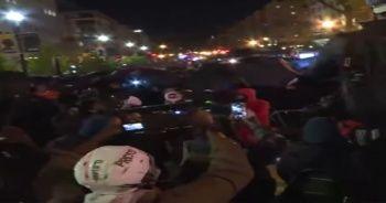 Beyaz Saray önünde yaşanan arbedeye polis müdahale etti