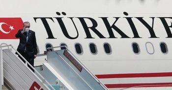 Cumhurbaşkanı Erdoğan Kuzey Kıbrıs Türk Cumhuriyeti'ne gitti